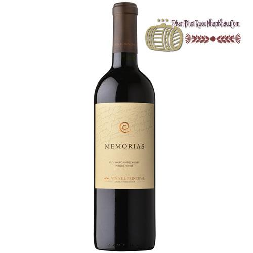 Rượu vang Vina El Principal Memorias [BM] - phanphoiruounhapkhau.com