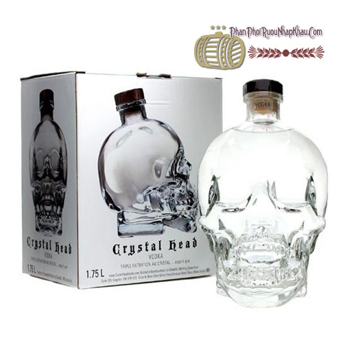 Rượu Vodka Crytal Head 1750ml [VA] - phanphoiruounhapkhau.com