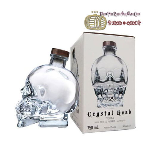 Rượu Vodka Crytal Head 750ml [VA] - phanphoiruounhapkhau.com
