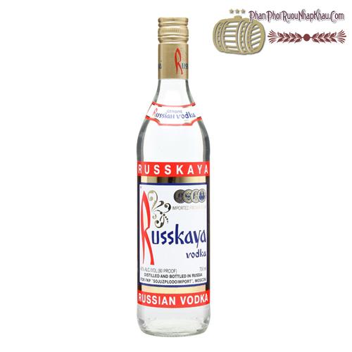 Rượu Vodka Russkaya - phanphoiruounhapkhau.com