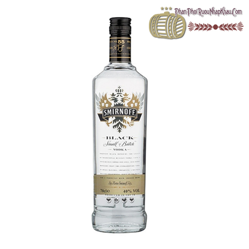 Rượu Vodka Smirnoff Black - phanphoiruounhapkhau.com