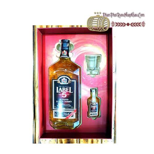 Rượu Whisky Label 5 Classic 1000ml có hộp quà [BM]