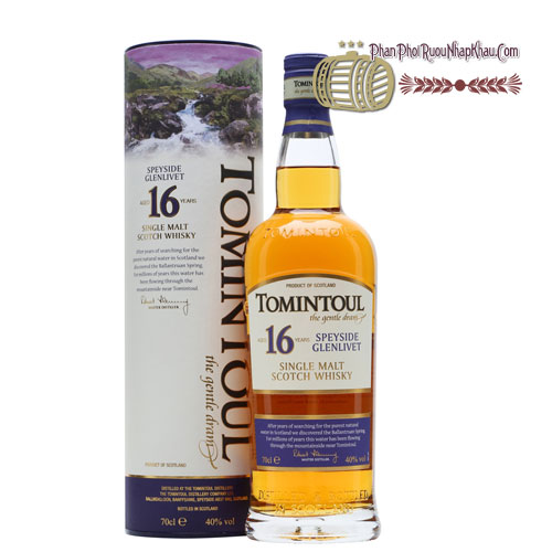 Rượu Whisky Tomintoul 16 năm [VA] - phanphoiruounhapkhau.com