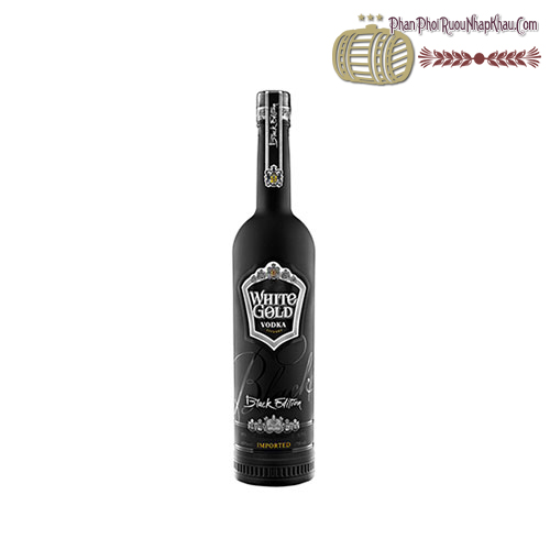 Rượu Vodka White Gold Black Edition 500ml - phanphoiruounhapkhau.com