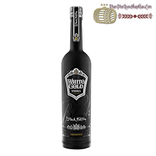Rượu Vodka White Gold Black Edition 750ml - phanphoiruounhapkhau.com
