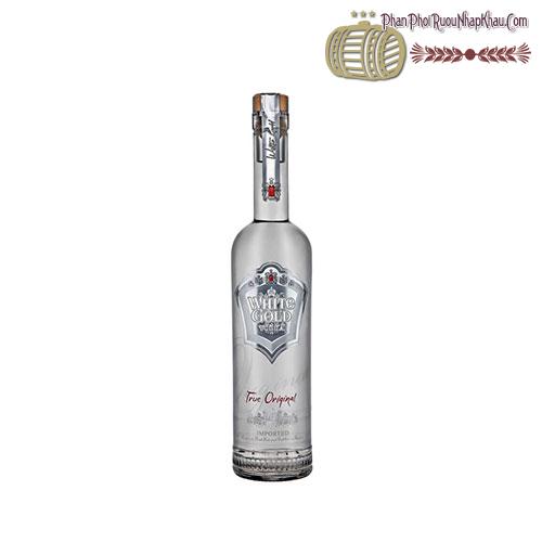 Rượu Vodka White Gold True Original 500ml - phanphoiruounhapkhau.com