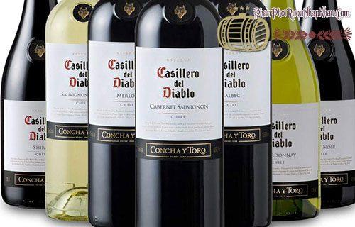 rượu vang chile casillero del diablo
