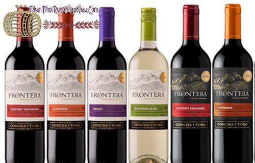 rượu vang chile frontera