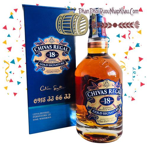 Rượu Chivas 18 năm - Mẫu mới 2019, cập nhật giá chivas hàng ngày