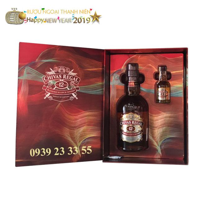 Rượu Chivas 12 hộp quà – Mẫu 2019