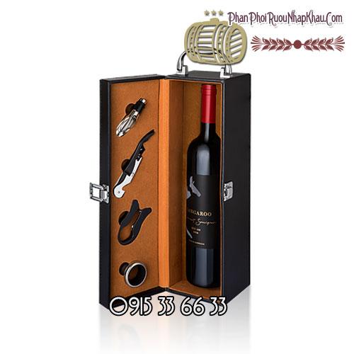 Rượu vang Kangaroo Bin 188 Hộp Da