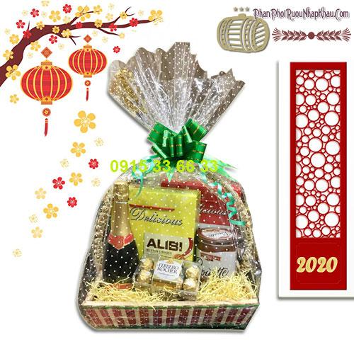 Giỏ quà tết đặc biệt dành cho năm Canh Tý- giỏ quà 10