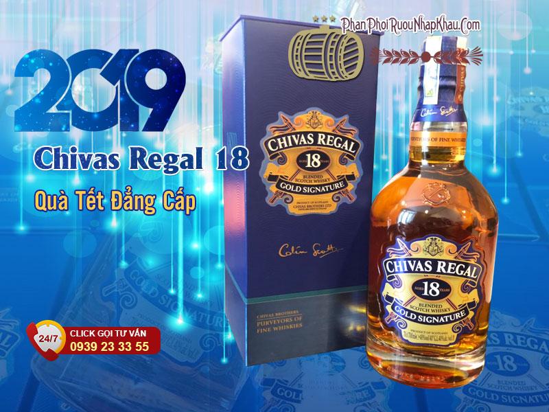Rượu Chivas 18 năm, mẫu mới tết 2019 - Giá chivas 2019 cập nhật hàng ngày