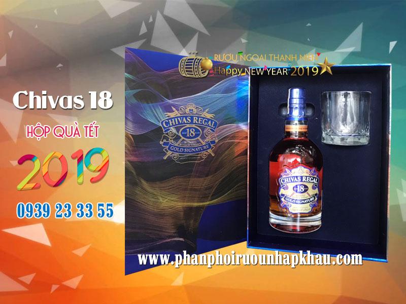 Rượu Chivas 18 Hộp Quà Tết 2019 - Phân phối rượu nhập khẩu