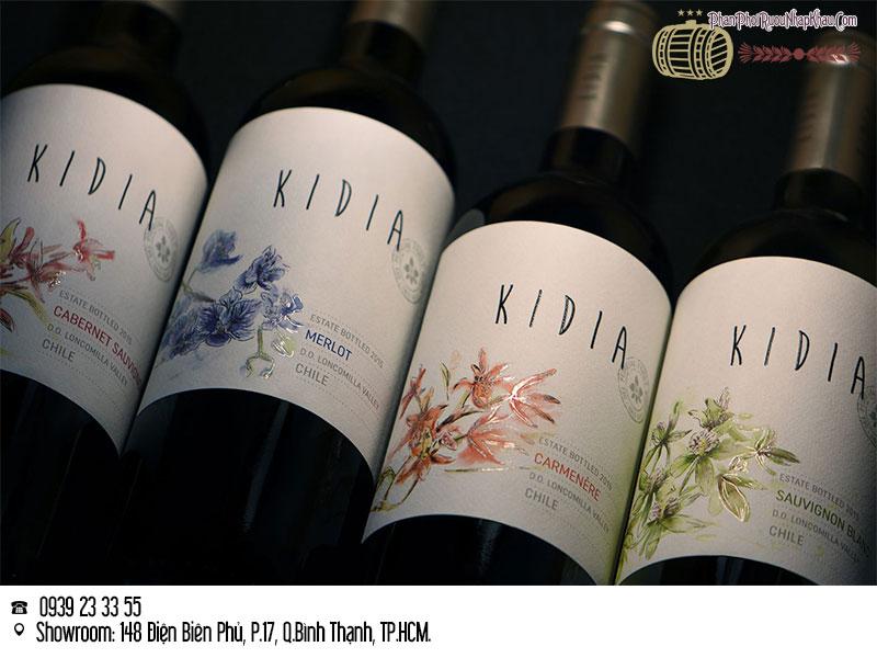 rượu vang chile kidia