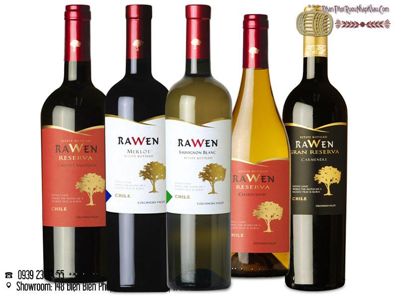 rượu vang chile rawen