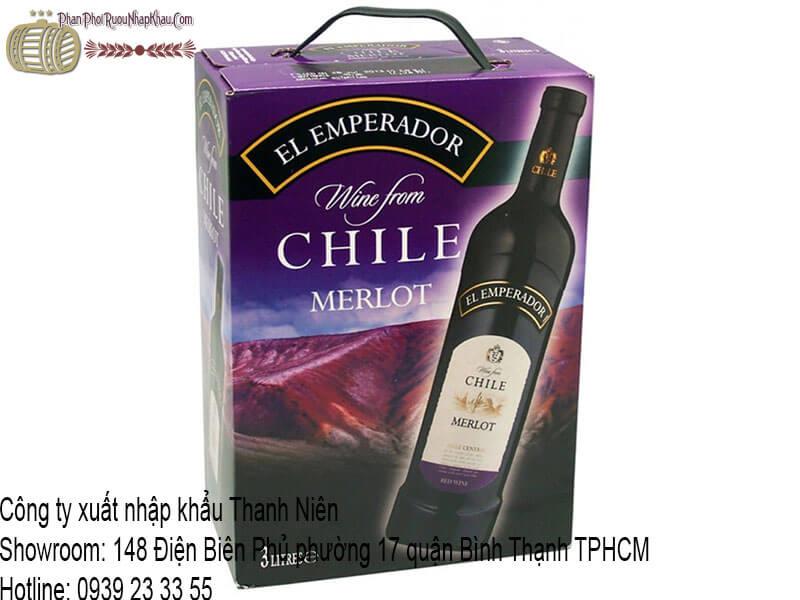 rượu vang chile el emperador