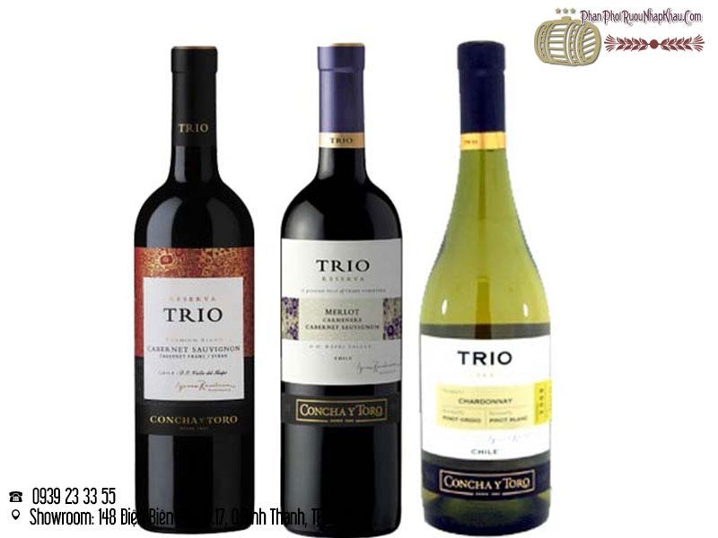 rượu vang chile trio